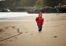 Strolling on the Beach Royalty Free Stock Photography