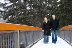 Strolling Couple Royalty Free Stock Images