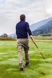 Strolling golfer Stock Photography