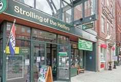 Strolling of the Heifers store, downtown Brattleboro