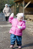 Strolling little girl Stock Photography