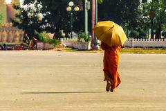 Strolling Monk Royalty Free Stock Photos