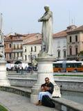 Strolling musician in Prato della Valle - Padova (Padua) - Italy Royalty Free Stock Photography