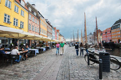 Strolling in Nyhavn, Copenhagen Stock Images