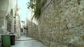 Strolling in the old city of Jerusalem stock footage