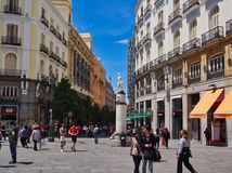 Pedestrian Mall,  Madrid, Calle Arenal, Madrid Centre, Spain Royalty Free Stock Image