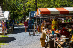 Strolling Through Shupps Grove. Reamstown, PA - August 7, 2016: Antiques and other collectables offered for sale weekly by dealers at Shupp's Grove Royalty Free Stock Image