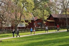 Strolling on a sunny spring Sunday Stock Image