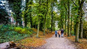 Strolling Through The Park Along The Shore Of The Stadsgracht In The Historic Hanseatic City Of Zwolle Royalty Free Stock Photography
