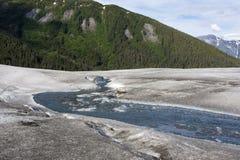 Strom auf einem Gletscher Lizenzfreie Stockfotos