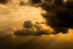 Strom clouds at dusk Royalty Free Stock Image