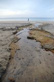 Strom des Wassers an einem Strand. Lizenzfreie Stockfotos