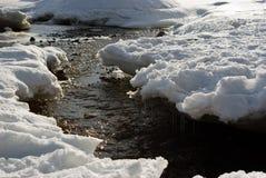 Strom durch Schnee lizenzfreie stockfotografie