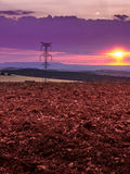 Strom durch unsere Felder stockbild