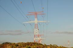 Strom-Energie-Mast Stockbild