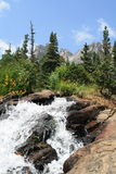 Strom entlang der Spur Rocky Mountain National Park 2 stockbild