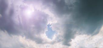 Strom himmel royaltyfri foto
