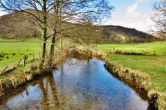Strom im englischen See-Bezirk Stockbild