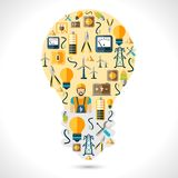 Strom-Konzept flach Stockfoto