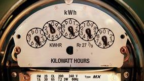 Strom-Meter (Zeit-Versehen Zoom) stock video