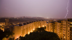 Strom over Bratislava habitation Royalty Free Stock Photos