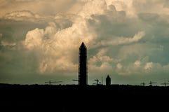 Strom sobre Washington DC Imagen de archivo libre de regalías