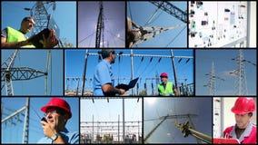 Strom-Verteilersystem stock video footage