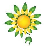Strom von der Energie der Sonne Stockfoto