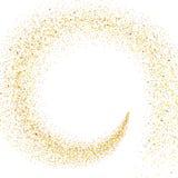 Strom von goldenen Partikeln stock abbildung
