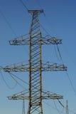 Strom-Zeile Gondelstiel stockfotos