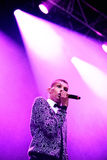 Stromae, Belgian singer who plays House, New Beat and electronic music, performs at Heineken Primavera Sound 2014 Royalty Free Stock Image
