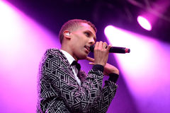 Stromae, Belgian singer who plays House, New Beat and electronic music, performs at Heineken Primavera Sound 2014 Royalty Free Stock Photo