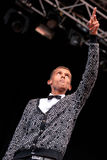 Stromae, singer from Belgium who plays house, new beat and electronic music, performs at Heineken Primavera Sound 2014 Festival Stock Photos