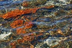 Stromatalites. Light reflecting on Stromatalites in Hamelin Pool Royalty Free Stock Photos