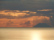 Strombali volcano Royalty Free Stock Photography