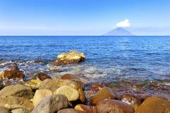 Stromboli, île éolienne photos stock