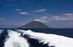 stromboli Сицилии острова Стоковое Изображение RF