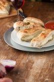 Stromboli a bourré le pain Photographie stock