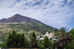 Stromboli. Constantly active volcano on the island of Stromboli, Sicily, Italy Royalty Free Stock Photos