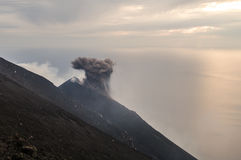 Stromboli. Constantly active volcano on the island of Stromboli, Sicily, Italy Stock Images