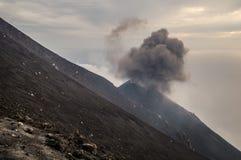 Stromboli. Constantly active volcano on the island of Stromboli, Sicily, Italy Royalty Free Stock Photography