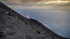 Stromboli. Constantly active volcano on the island of Stromboli, Sicily, Italy Royalty Free Stock Photo
