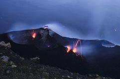 Stromboli. Constantly active volcano on the island of Stromboli, Sicily, Italy Royalty Free Stock Image