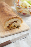 Stromboli filled with ham and cheese Royalty Free Stock Image