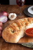 Stromboli Gevuld Brood Stock Foto