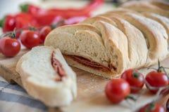 Stromboli - italian pizza bread Royalty Free Stock Photography