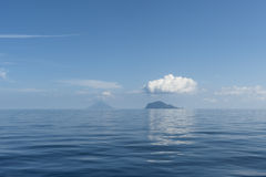Stromboli and Panarea royalty free stock photo