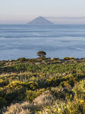 Stromboli from Salina Stock Photography
