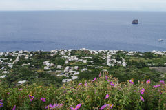 Stromboli. Sea view from the slopes of Stromboli, Sicily, Italy Stock Images