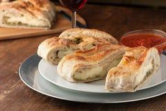 Stromboli Stuffed Bread Stock Photo